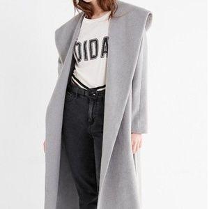 UO Hooded Long Wool Coat by Silence + Noise.